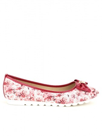Ballerine FLOWERS Rouge