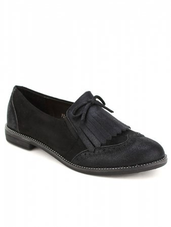 Derbies noires SIXTH SENS Simili cuir, image 03