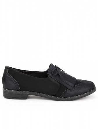 Derbies noires SIXTH SENS Simili cuir