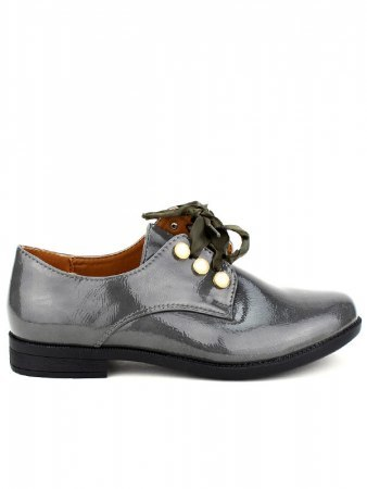 Derbies Grey vernies CINKS LOOKS