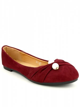 Ballerines bordeaux PERLES LOOKS, image 03