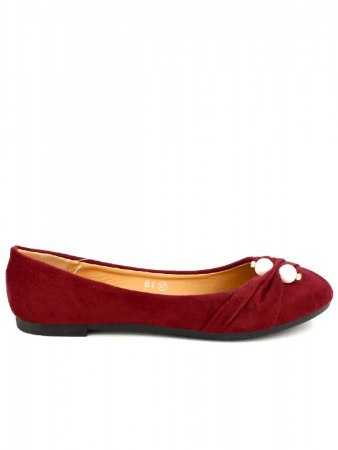 Ballerines bordeaux PERLES LOOKS