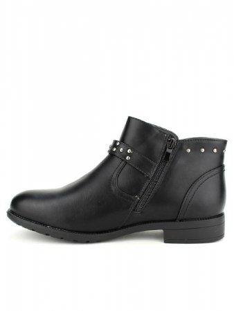 Bottines Noires Cloutées M&L SHOES, image 02