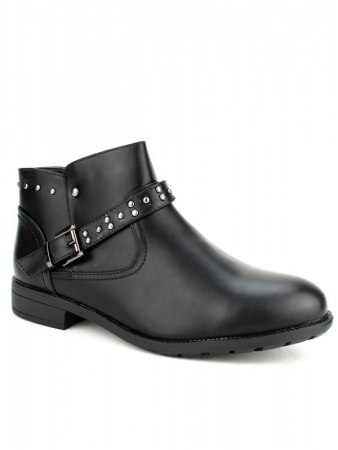 Bottines Noires Cloutées M&L SHOES, image 03