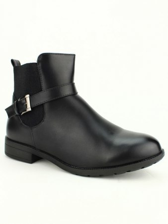 Bottines Noires simili M&L SHOES, image 02