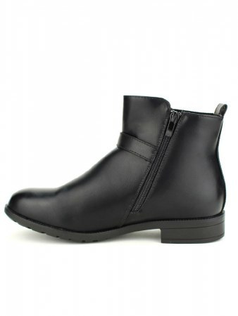 Bottines Noires simili M&L SHOES, image 03
