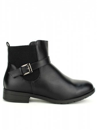 Bottines Noires simili M&L SHOES