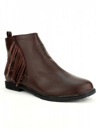 Bottine marron Simili M&L SHOES, image 02