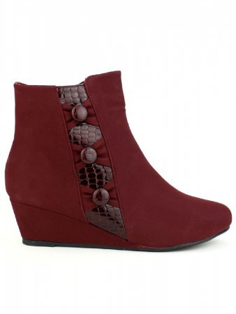 Bottines Feutrines color Bordeaux CINKS