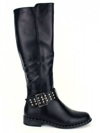 Botte Simili cuir Brillant Noir BEAUTYFULL
