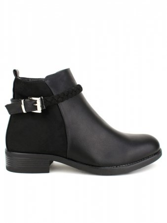 Bottines Noires Grandes Pointures TRESSES