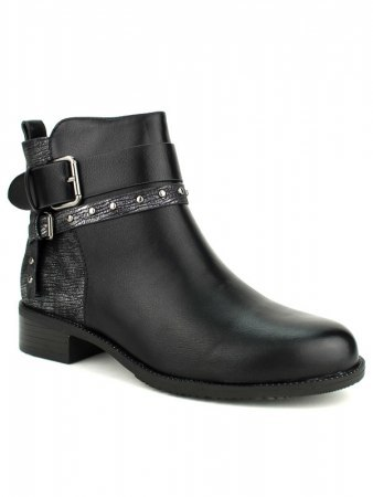 Bottines Noires bi color CATISA, image 02