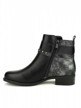Bottines Noires bi color CATISA, image 03
