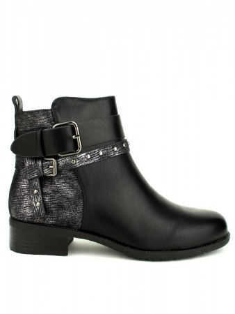 Bottines Noires bi color CATISA