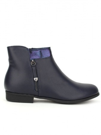 Bottine bleue Simili cuir SALINS