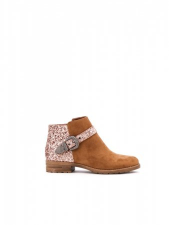 Bottines Caramel brillante EMELLA
