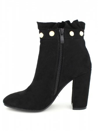 Lows boots noirs CREATION avec perles, image 03