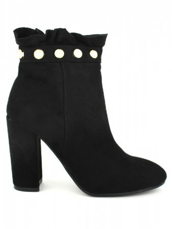 Lows boots noirs CREATION avec perles