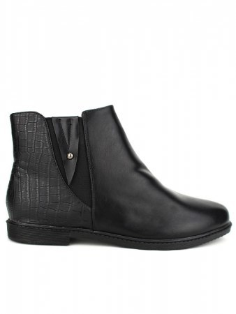 Bottine Noire Simili cuir M&L Shoes