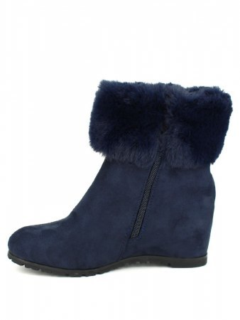 Bottines Bleues Daim BELLO STAR, image 03