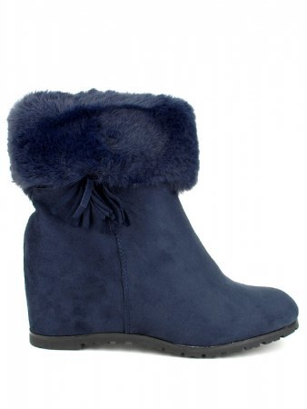 Bottines Bleues Daim BELLO STAR