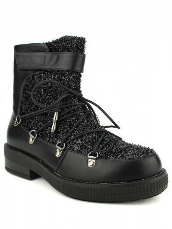 Boots Paillettes Black BELLO STAR, image 02