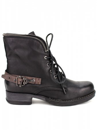 Boots noires WEIDY ROCK