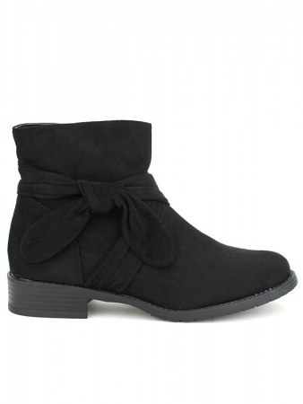 Bottine noire Daim BELLOS