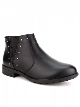 Bottines Noires Clous CATWOUM, image 03
