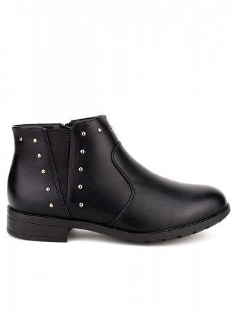 Bottines Noires Clous CATWOUM