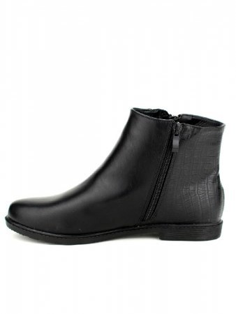 Bottines Noires simili cuir M&L SHOES, image 02