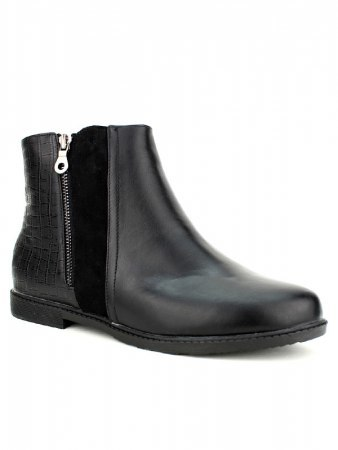 Bottines Noires simili cuir M&L SHOES, image 03