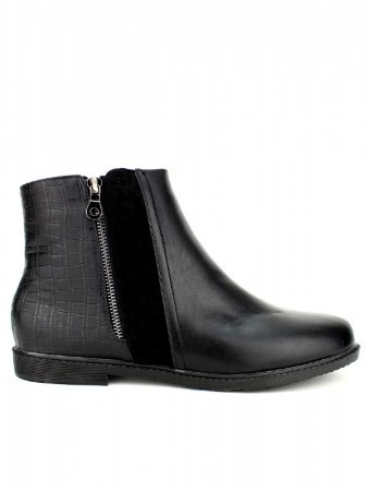 Bottines Noires simili cuir M&L SHOES