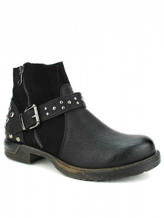 Bottine noire Simili cuir DAYNE ROCK, image 02