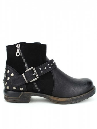 Bottine noire Simili cuir DAYNE ROCK