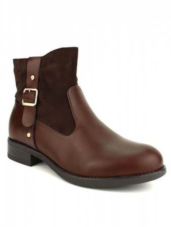Bottines Marron CINKS ME simili cuir, image 02