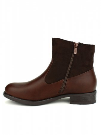 Bottines Marron CINKS ME simili cuir, image 03
