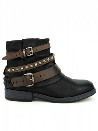Bottine Noire Simili cuir SKINS