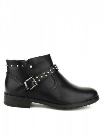 Bottines Noires ML SHOES RIVETS