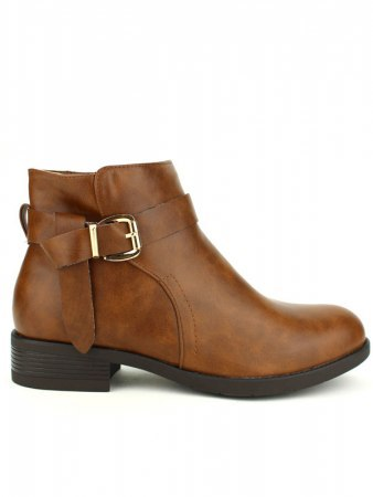 Bottines camel BO AIME Boucles
