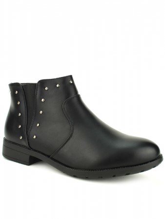 Bottines Noires clous ML SHOES, image 02
