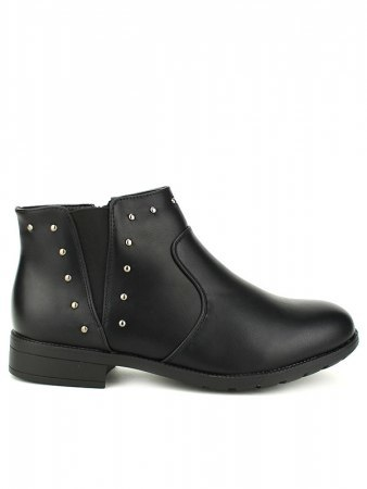 Bottines Noires clous ML SHOES