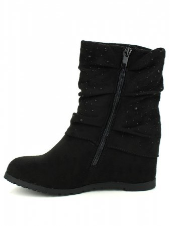 Bottines Noires STRASS ML SHOES, image 03