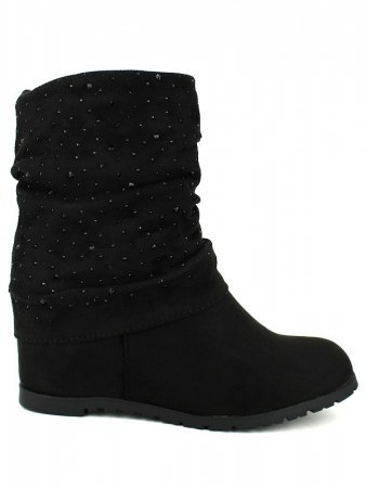 Bottines Noires STRASS ML SHOES