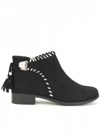 Bottine noire C'M Rivets