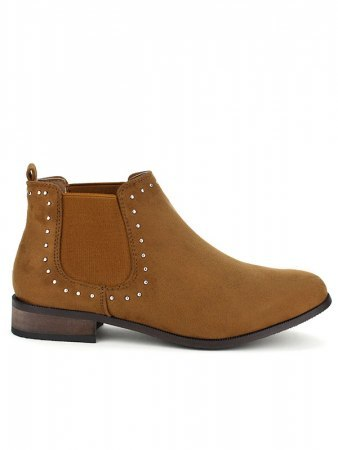 Bottine simili cuir CELLS Mode Camel
