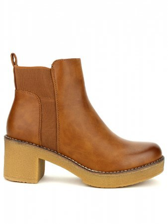 Bottines Caramels simili cuir STOMS