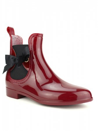 Bottine de pluie PVC LOV'IT Bordeaux color, image 02