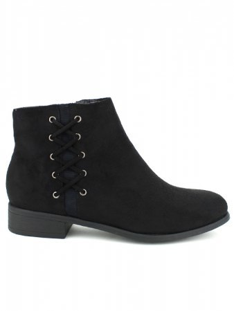 Bottine noire QUEENS Lacets
