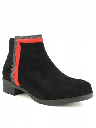 Bottines Noires LOV'IT bande rouge, image 02